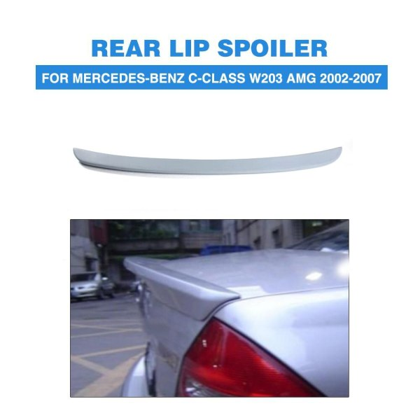 Rear Trunk Boot Spoiler Lip Wing For Mercedes-Benz C-Class W203 AMG