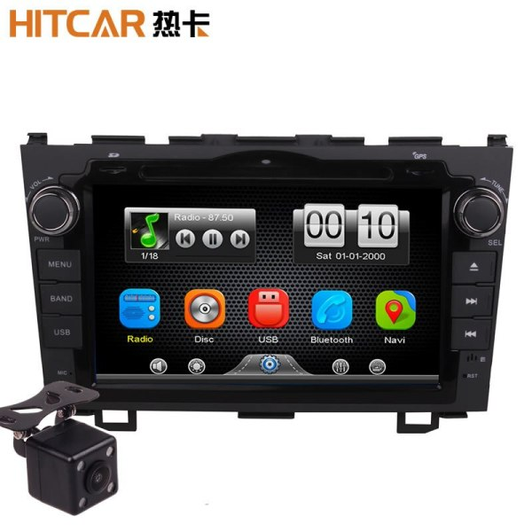 2Din Car In Dash DVD Video MP3 Player Radio Bluetooth Head Unit Stereos with Reverse Camera 4 Honda CRV 2007-2011 (Without GPS)