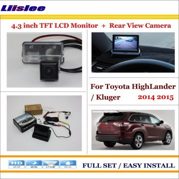 """Liislee For Toyota HighLander / Kluger 2014 2015 Auto Back UP Reverse Camera + 4.3"""" Color LCD Monitor = 2 in 1 Parking System"""