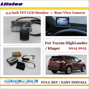 "Liislee For Toyota HighLander / Kluger 2014 2015 Auto Back UP Reverse Camera + 4.3"" Color LCD Monitor = 2 in 1 Parking System"