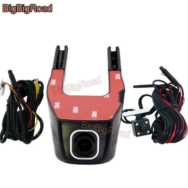 BigBigRoad For Ford Focus 1 2 3 mk3 F-450 2011 explorer FLEX 2009 Car Wifi DVR Video Recorder Dual lens Car Dash cam