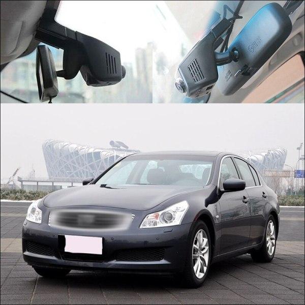 BigBigRoad For Infiniti G37 G25 APP Control Car Wifi Camera G-sensor Novatek 96658 Driving Video Recorder Dash cam