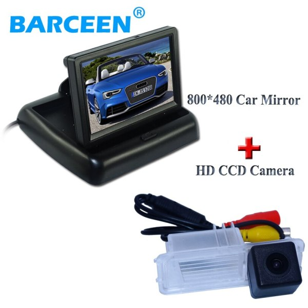 """4.3"""" 800*480 for all car display monitor withcar rear view camera suitable for Volkswagen GOLF 6/Magotan"""