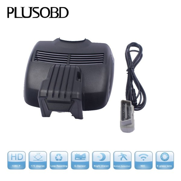 PLUSOBD Hd 1080p Car DVR Vehicle Camera Video Recorder Dash Cam G-sensor Hdmi For Mercedes Benz E W207 2009-2017+OBDII Adapter