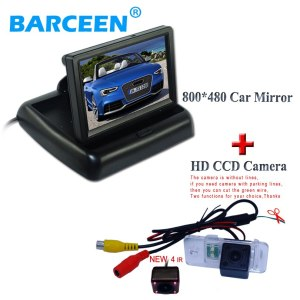 IP 69K waterproof and shockproof car rearview camera +800*480 car rear monitor fit for AUDI A6L 2009~2011 /A4/A3/ Q7 /S5