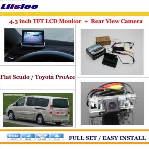 "Liislee For Fiat Scudo For Toyota ProAce Car Reverse Backup Rear Camera + 4.3"" TFT LCD Screen Monitor = 2 in 1 Parking System"