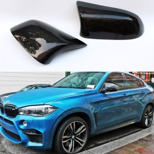 Carbon Fiber Replace Car Mirror Cover Cap Trim for BMW X Series