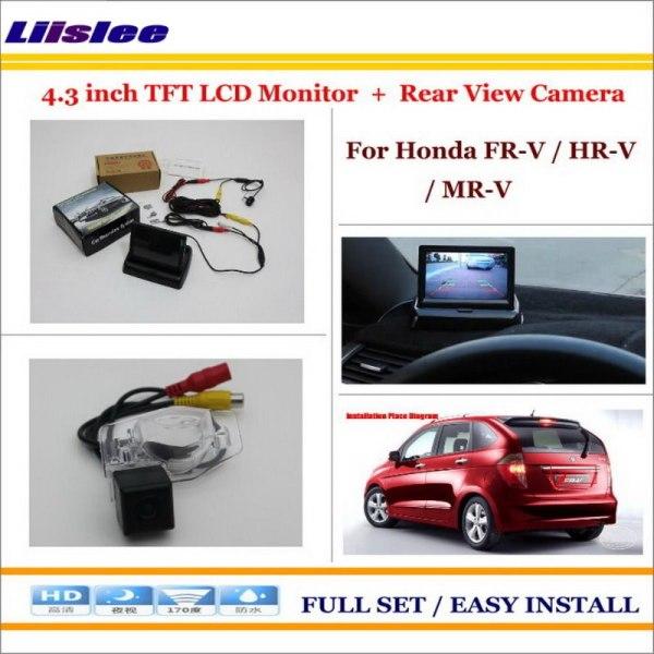 """Liislee For Honda FR-V / HR-V / MR-V In Car 4.3"""" Color LCD Monitor + Car Rear Back Up Camera = 2 in 1 Park Parking System"""