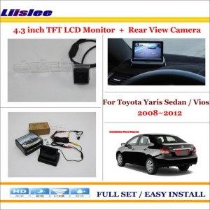 "Liislee For Toyota Yaris Sedan / Vios 2008 ~2012 4.3"" LCD Monitor + Car Rearview BackUp Camera = 2 in 1 Car Parking System"