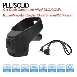 Car Dash Cam Black Box for VW/POLO/GOLF/tiguan/Magotan/Sagitar/Bora/Sharan/CC/Passat(year2006-2015) with OBD Connect cable