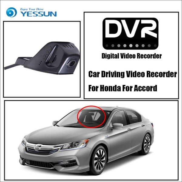 YESSUN Car DVR Driving Video Recorder for Honda Accord Front Dash Camera HD 1080P Not Rear Back Camera