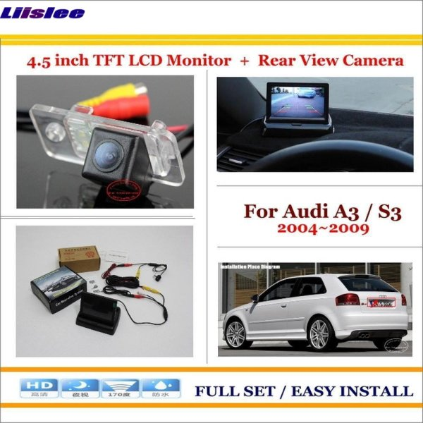 """Liislee For Audi A3 / S3 2004~2009 - Car Reverse Back Rear Camera + 4.3"""" TFT LCD Screen Monitor = 2 in 1 Rearview Parking System"""