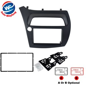 Double Din Fascia Fit Radio DVD Stereo CD Panel Dash Face Frame Mounting Installation Trim Kit For Honda Civic
