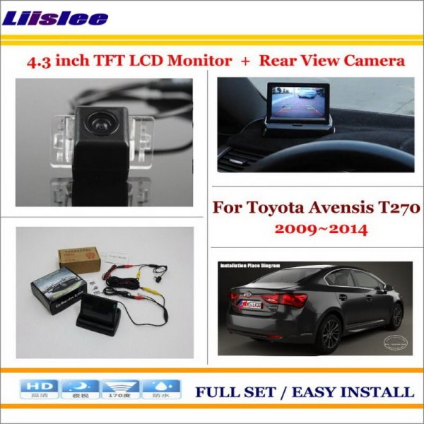 """Liislee For Toyota Avensis T270 2009~2014 Back UP Reverse Camera + 4.3"""" Color LCD Monitor = 2 in 1 Rearview Parking System"""