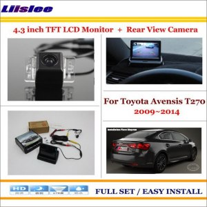 "Liislee For Toyota Avensis T270 2009~2014 Back UP Reverse Camera + 4.3"" Color LCD Monitor = 2 in 1 Rearview Parking System"