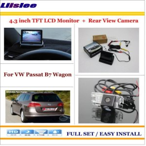 """Liislee For Volkswagen VW Passat B7 Wagon Auto Rear View Camera Back Up + 4.3"""" LCD Monitor = 2 in 1 Parking Assistance System"""