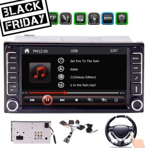 Free Backup Camera and Map Card Special for Toyota In Dash Headunit MP5 player 7 Touchscreen Double Din GPS Navigation Car AM FM