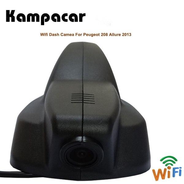 Kamapcar Car Wifi DVR Dash Cam Rear View Camera For Peugeot 208 Allure 2013 2008 2015 2 Video Recorder Dual Registrator Car Dvrs