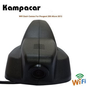 Kamapcar Car Wifi DVR Dash Cam Rear View Camera For Peugeot 208 Allure 2013 2008 2015 2 Video Recorder Dual Registrator Car Dvrs