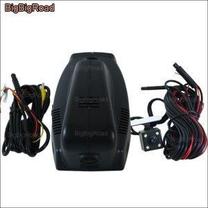 BigBigRoad For BMW 3 5 7 series before 2012 / f10 z4 e9 750Li X3 X5 X6 / e61 535d Car Wifi DVR Video Recorder Dash Dual Cameras