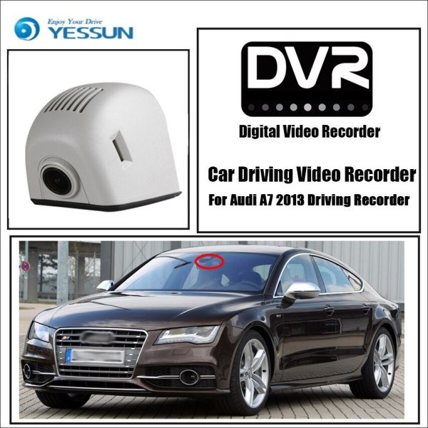 YESSUN for Audi A7 4G8 S7 RS7 2010~2017 Car DVR Wifi Video Recorder Dash Cam Camera Night Vision APP Control Phone FHD 1080P