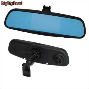 BigBigRoad For honda fit / Toyota 86 / For Subaru BRZ Dual Lens Car Mirror Camera DVR Blue Screen Video Recorder Dash Cam
