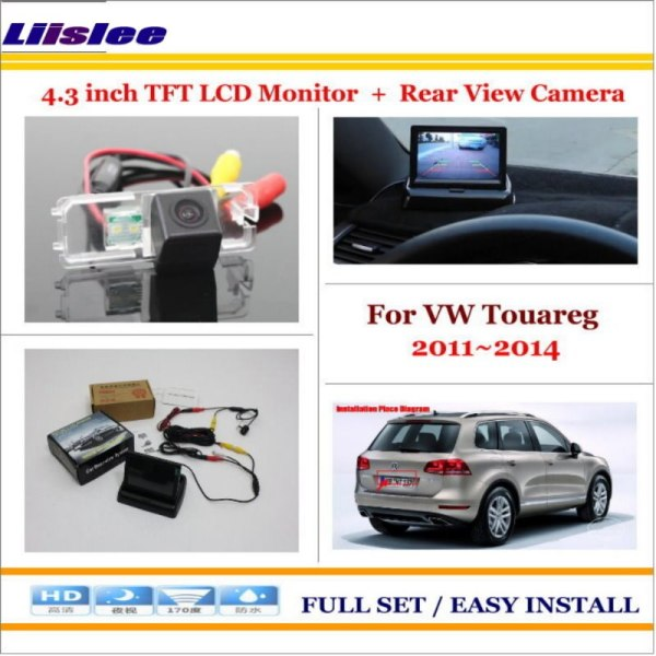 """Liislee For Volkswagen VW Touareg 2011~2014 Car Parking Camera + 4.3"""" LCD Monitor NTSC PAL = 2 in 1 Parking Rearview System"""