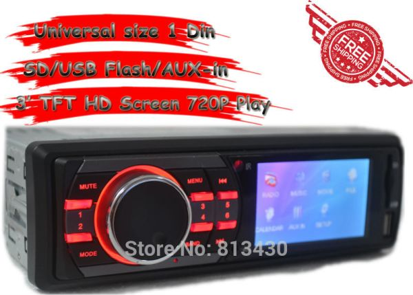 New Arrival Car Radio Audio Player Mp5 Car Stereo 3 inch HD TFT Screen Remote Control Car 12V SD/USB/AUX IN Support Rear Camera