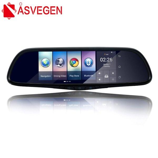 "Asvegen 7"" Touch 3G Car DVR Camera Mirror GPS Bluetooth 16GB Android 5.0 Dual Lens Full HD 1080p Video Recorder Dash Cam"