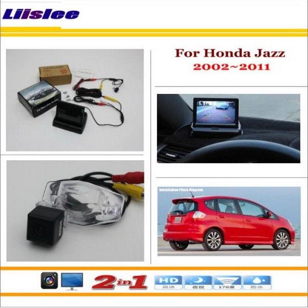"Liislee For Honda Jazz 2002~2011 Car Rear Camera + 4.3"" TFT LCD Screen Monitor = 2 in 1 Back Up Parking System"