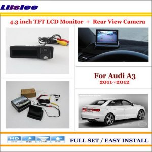 """Liislee For Audi A3 / A4 2011 2012 Car Rearview Camera + 4.3"""" LCD Screen Monitor = 2 in 1 Parking Assistance System"""