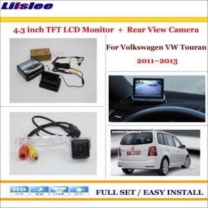 "Liislee For Volkswagen VW Touran 2011~2013 Car Backup Rear Camera + 4.3"" LCD Screen Monitor = 2 in 1 Rearview Parking System"