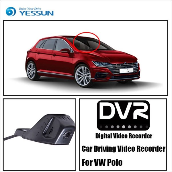 YESSUN Car Front Dash Camera CAM for Volkswagen Polo DVR Driving Video Recorder Function Car DVR Camera Video Recorder