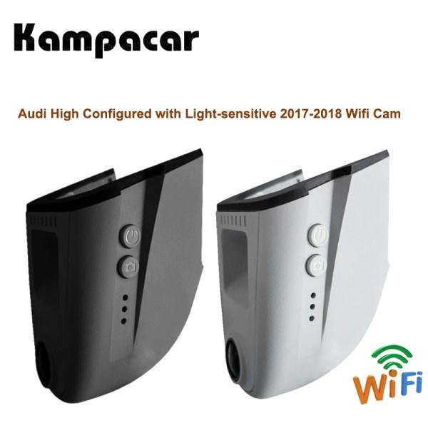 Kampacar Car Wifi DVR Dash Cam Registrator Auto Camera Recorder For Audi With Light-sensitive A3 A4 A5 A6 A7 A8 Q5 Q7 Cars Dvrs