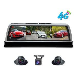 "Zuczug 360-degree panoramic dashboard car dvr dash cam 4CH Camera recorder 10"" Touch Android rear view mirror GPS Navi ADAS WIFI"