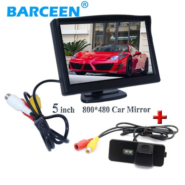 """5"""" car back up monitor with auto car rear reserve camera for Volkswagen VW Magotan PASSAT CC /Golf 5/ POLO hatchback / Jetta"""