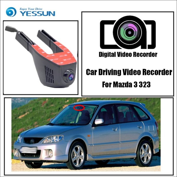 YESSUN for Mazda 3 323 Car Driving Video Recorder DVR Mini Control APP Wifi Camera Registrator Dash Cam Original Style