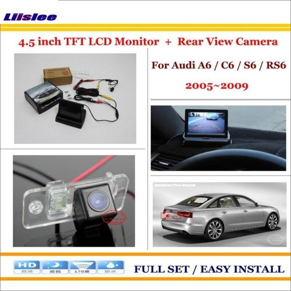 """Liislee For Audi A6 / C6 / S6 / RS6 2005~2009 - Car Backup Rear Camera + 4.3"""" TFT LCD Screen = 2 in 1 Rearview Parking System"""