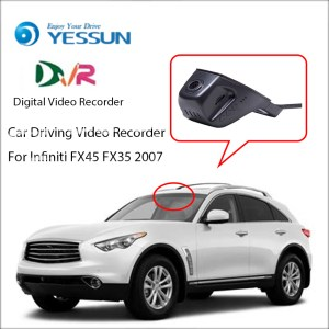 YESSUN Car DVR Digital Driving Video Recorder For Infiniti FX45 FX35 2007 - Front Dash Camera Front CAM HD 1080P