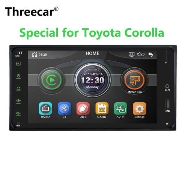 Toyota Corolla Android Universal Car Multimedia player 2 din car radio 7 Inch mirror link Android 8 Bluetooth/USB/rearview camera For Toyota Corolla Universal Car Multimedia player.