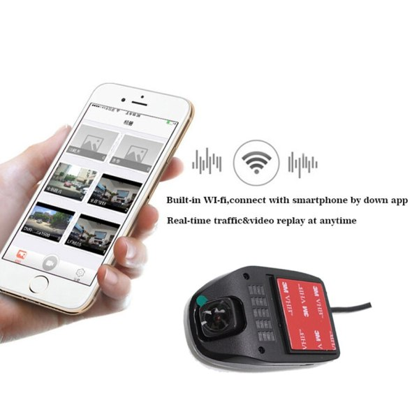 Liislee Car Driving Video Recorder Small Wireless Wifi DVR Dash Camera for Audi A1 GB 2018 2019 Night Vision APP Control Mobile