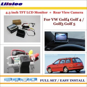 "Liislee For Volkswagen VW Golf4 Golf 4 / Golf5 Golf 5 Car Rear Camera + 4.3""LCD Screen Monitor = 2 in 1 Back Up Parking System"