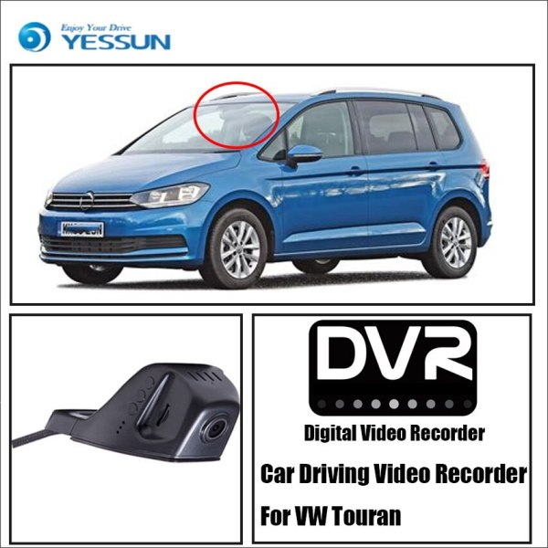 YESSUN for Volkswagen Touran Car Front Dash Camera CAM - For iPhone Android APP Control Function/ DVR Driving Video Recorder