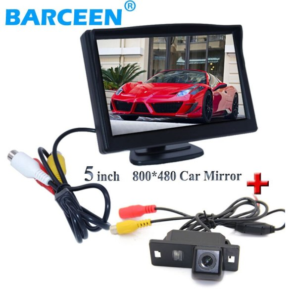 """Wire car back up rearview camera 170 angle black plastic shell+5"""" car reversing monitor for Audi A4L 2013~2014 / TT/ A5/ A6/Q5"""