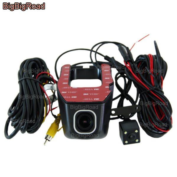 BigBigRoad For infiniti esq Car Wifi DVR Dual Lens Video Recorder hidden Installation FHD 1080P Car Dash Cam