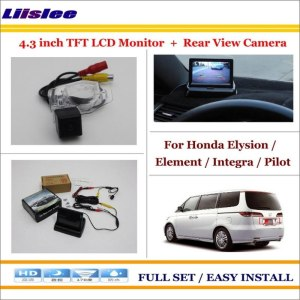 "Liislee For Honda Elysion / Element / Integra / Pilot Car Rear Camera + 4.3"" LCD Screen Monitor = 2 in 1 Parking System"