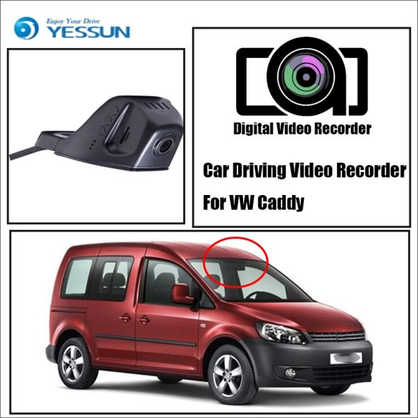 YESSUN for Volkswagen Caddy DVR Driving Video Recorder Car Front Dash Camera CAM Car DVR Wifi Camera Driving Video Recorder