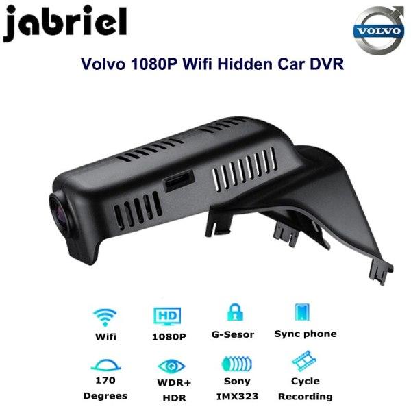 Jabriel Auto 1080p Car Camera Recorder Dvr wifi hidden Driving vehicle dash cam dual lens for volvo 2015 2016 2017 XC60 T4 T5