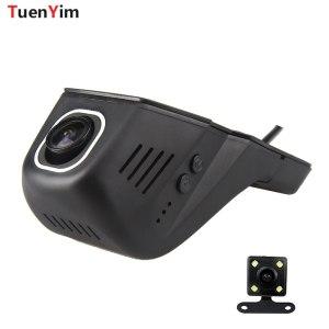 For Peugeot 2008 3008 4007 108 207 301 308 408 Car Dash Cam Wifi DVR Dual lens Video Recorder FHD 1080P Camera