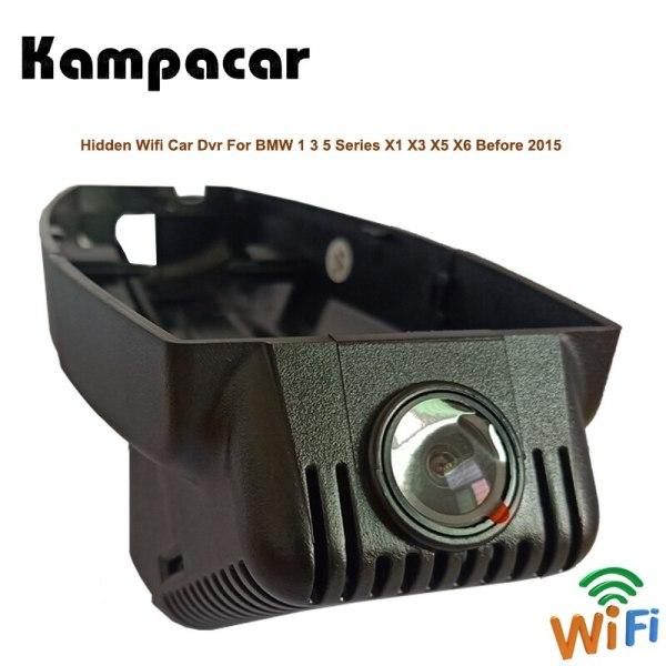 Kampacar Car Wifi DVRs With Two Cameras For BMW X1 E84 F48 X3 E83 F25 G01 X5 E70 1 3 5 Series Before 2015 Cars Dash Cam Camera
